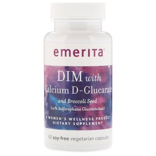 Emerita, DIM With Calcium D-Glucarate and Broccoli Seed, 60 Soy-Free Vegetarian Capsules Review