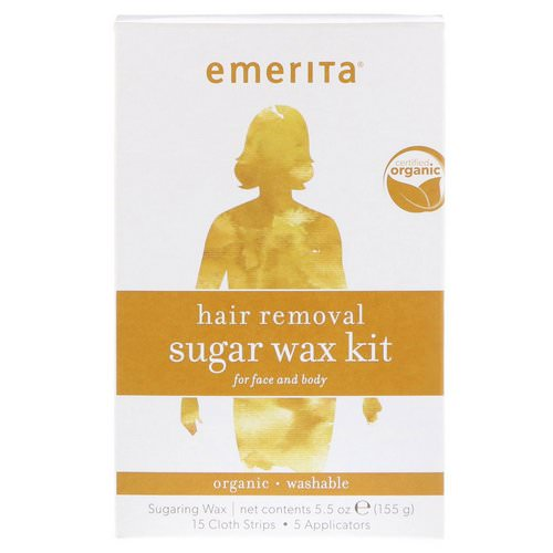 Emerita, Hair Removal Sugar Wax Kit for Face and Body, Organic, 5.5 oz (155 g) Review