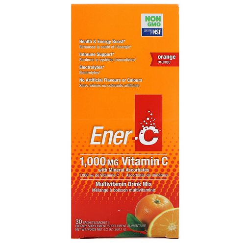 Ener-C, Vitamin C, Multivitamin Drink Mix, Orange, 30 Packets, 9.2 oz (260.1 g) Review