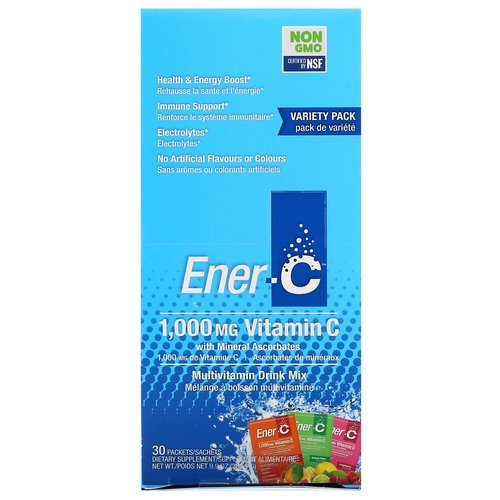 Ener-C, Vitamin C, Multivitamin Drink Mix, Variety Pack, 30 Packets, 9.9 oz (282.9 g) Review