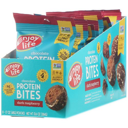 Enjoy Life Foods, Chocolate Protein Bites, Dark Raspberry, 8 Pouches, 1.7 oz (48 g) Each Review