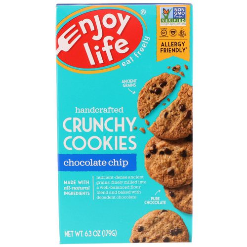 Enjoy Life Foods, Handcrafted Crunchy Cookies, Chocolate Chip, 6.3 oz (179 g) Review