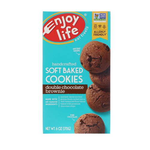 Enjoy Life Foods, Soft Baked Cookies, Double Chocolate Brownie, 6 oz (170 g) Review