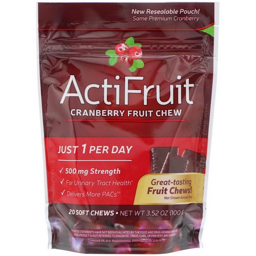 Nature's Way, ActiFruit, Cranberry Fruit Chew, 20 Soft Chews Review