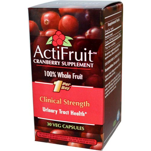 Enzymatic Therapy, ActiFruit Cranberry Supplement, 30 Veggie Caps Review