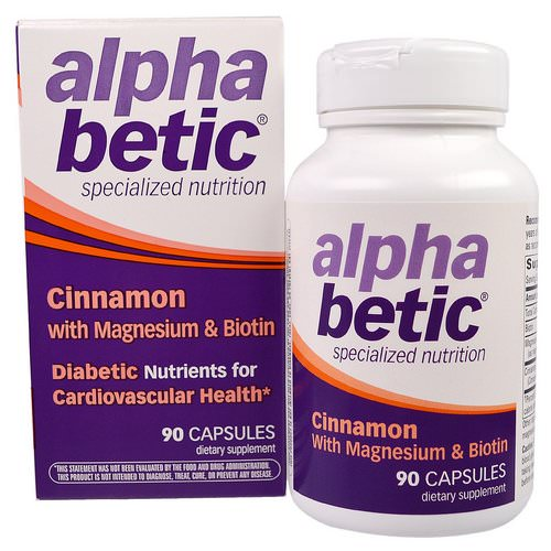 Nature's Way, Alpha Betic, Cinnamon with Magnesium & Biotin, 90 Capsules Review