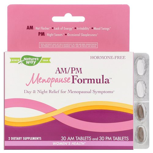 Nature's Way, AM/PM Menopause Formula, Women's Health, 60 Tablets Review