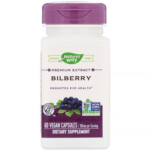 Nature's Way, Bilberry Extract, Eye Health, 60 Veggie Caps Review