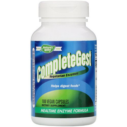 Nature's Way, CompleteGest, Mealtime Enzyme Formula, 180 Vegan Capsules Review
