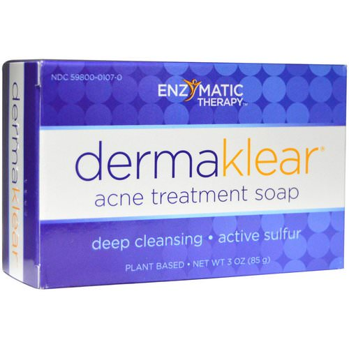 Enzymatic Therapy, DermaKlear Acne Treatment Soap, 3 oz (85 g) Review