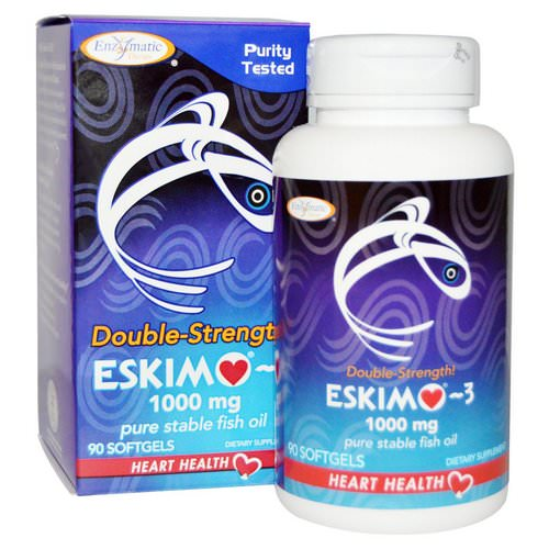 Enzymatic Therapy, Eskimo-3, Double Strength, 1000 mg, 90 Softgels Review