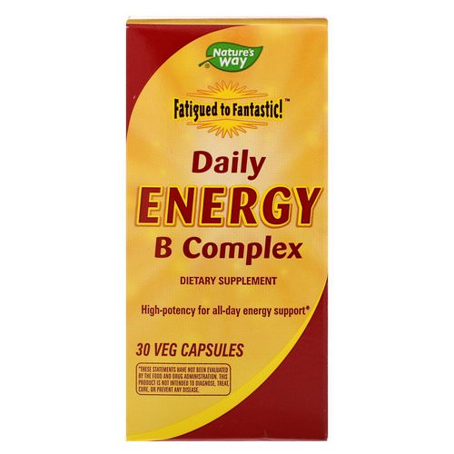 Nature's Way, Fatigued to Fantastic! Daily Energy B Complex, 30 Veggie Caps Review