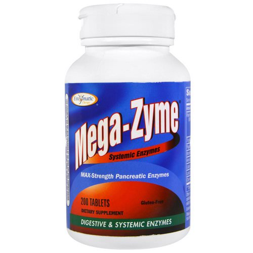 Enzymatic Therapy, Mega-Zyme, Systemic Enzymes, 200 Tablets Review