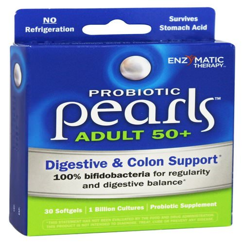 Enzymatic Therapy, Probiotic Pearls Adult 50+, 30 Softgels Review
