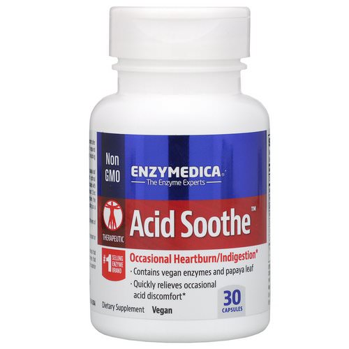 Enzymedica, Acid Soothe, 30 Capsules Review