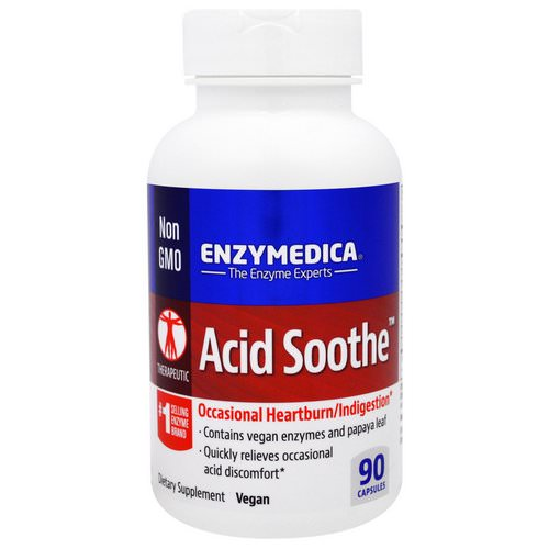 Enzymedica, Acid Soothe, 90 Capsules Review