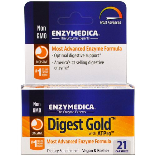 Enzymedica, Digest Gold with ATPro, 21 Capsules Review