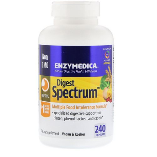 Enzymedica, Digest Spectrum, 240 Capsules Review