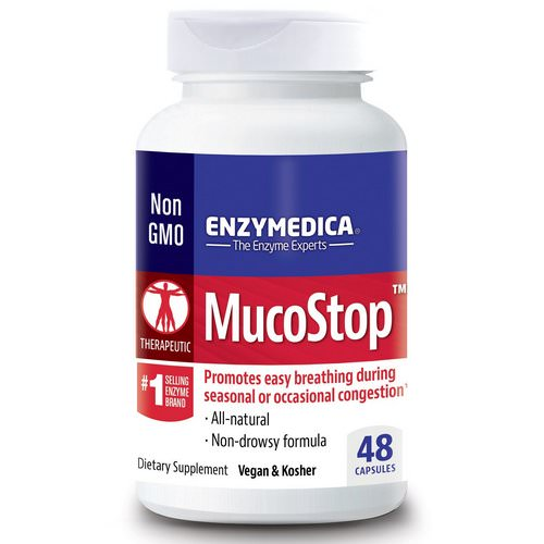 Enzymedica, MucoStop, 48 Capsules Review