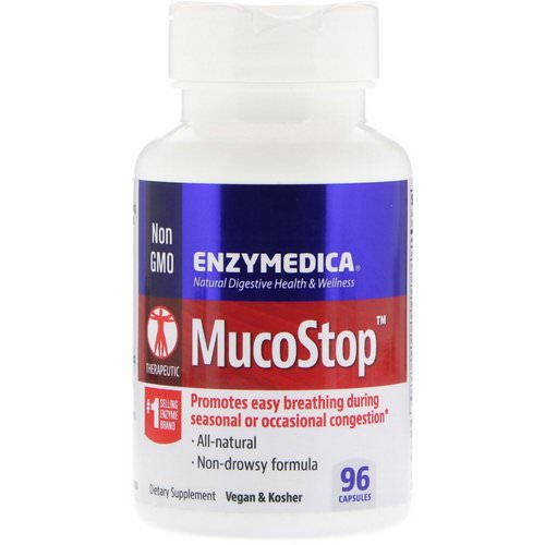Enzymedica, MucoStop, 96 Capsules Review
