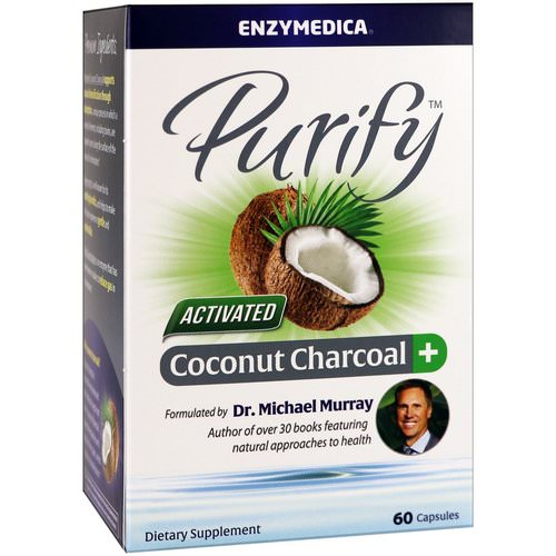 Enzymedica, Purify, Activated Coconut Charcoal+, 60 Capsules Review