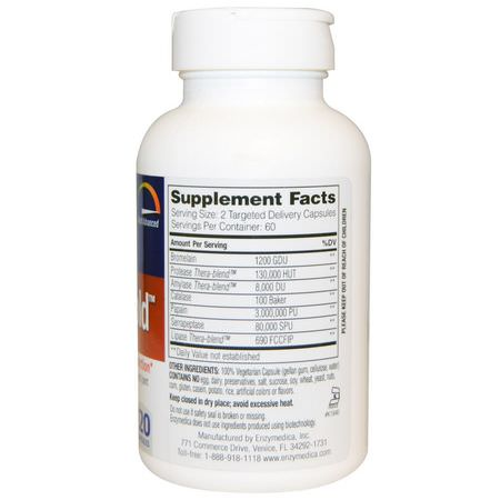 Proteolytic Enzyme Formulas, Digestion, Joint, Bone, Supplements