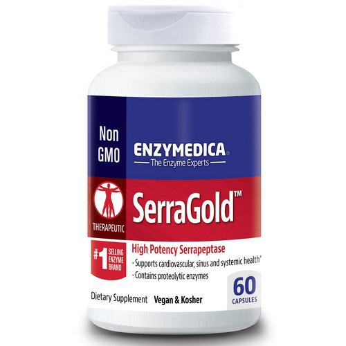 Enzymedica, SerraGold, High Potency Serrapeptase, 60 Capsules Review