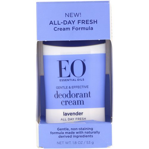 EO Products, Deodorant Cream, Lavender, 1.8 oz (53 g) Review