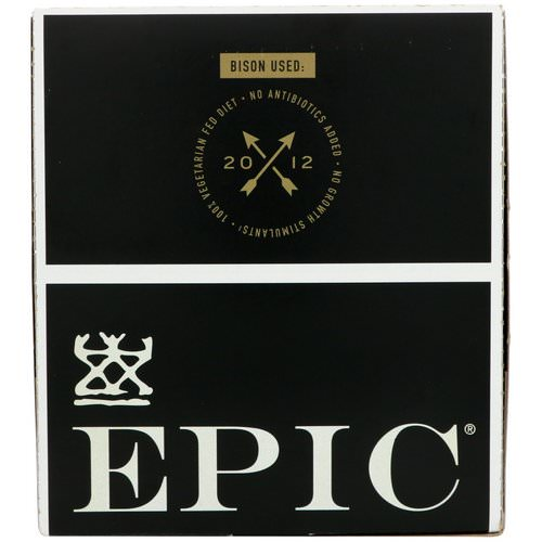 Epic Bar, Bison, Uncured Bacon + Cranberry Bar, 12 Bars, 1.3 oz (37 g) Each Review