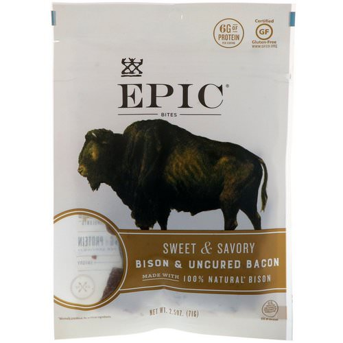 Epic Bar, Bites, Bison & Uncured Bacon, Sweet & Savory, 2.5 oz (71 g) Review