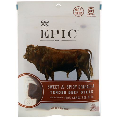 Epic Bar, Bites, Tender Beef Steak, Sweet & Spicy Sriracha, 2.5 oz (71 g) Review