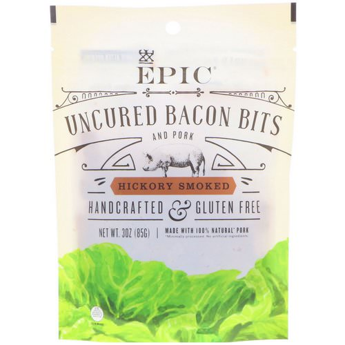 Epic Bar, Uncured Bacon Bits, Hickory Smoked, 3 oz (85 g) Review