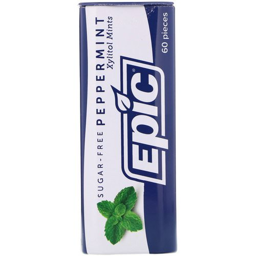 Epic Dental, Xylitol Mints, Peppermint, Sugar-Free, 60 Pieces Review