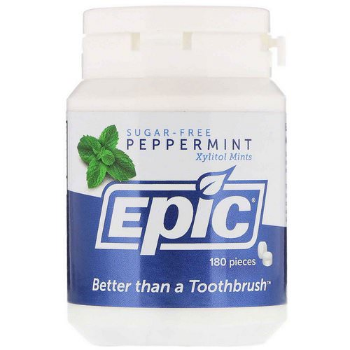 Epic Dental, Xylitol Mints, Sugar-Free, Peppermint, 180 Pieces Review