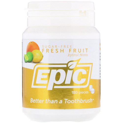 Epic Dental, Xylitol, Sugar Free, Fresh Fruit Mints, 180 Pieces Review