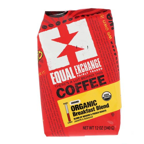Equal Exchange, Organic, Coffee, Breakfast Blend, Ground, 12 oz (340 g) Review