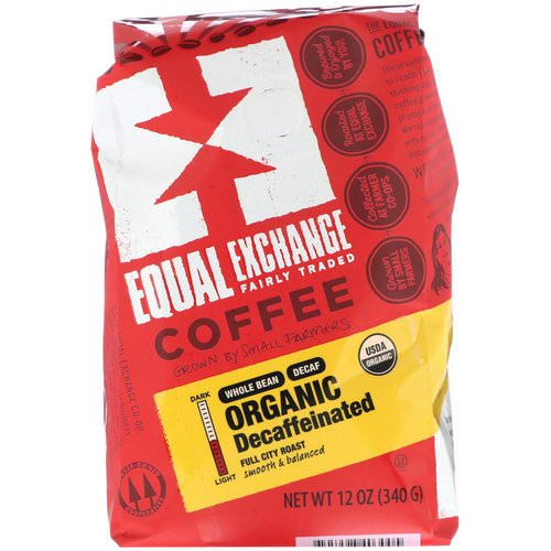 Equal Exchange, Organic, Coffee, Decaffeinated, Full City Roast, Whole Bean, 12 oz (340 g) Review