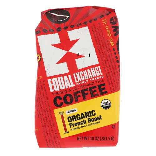 Equal Exchange, Organic, Coffee, French Roast, Ground, 10 oz (283.5 g) Review