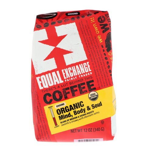 Equal Exchange, Organic, Coffee, Mind Body & Soul, Ground, 12 oz (340 g) Review