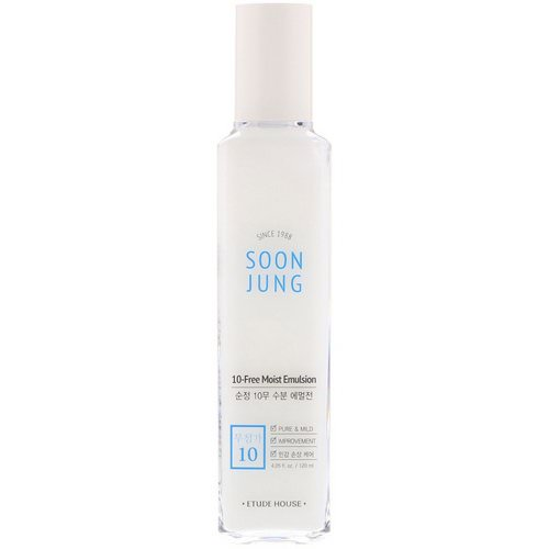 Etude House, Soon Jung, 10-Free Moist Emulsion, 4.05 fl oz (120 ml) Review