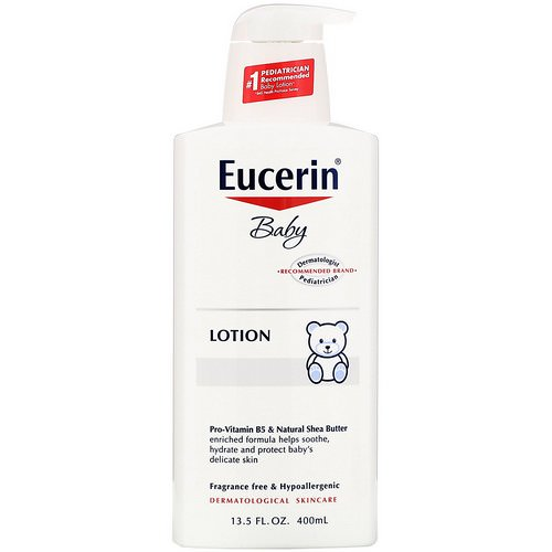 Eucerin, Baby, Lotion, Fragrance Free, 13.5 fl oz (400 ml) Review