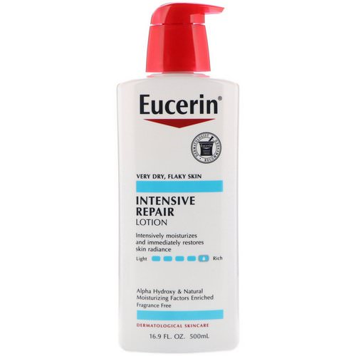 Eucerin, Intensive Repair Lotion, Fragrance Free, 16.9 fl oz (500 ml) Review