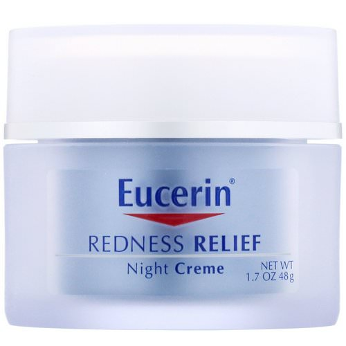 Eucerin, Redness Relief, Dermatological Skincare, Night Creme, 1.7 oz (48 g) Review