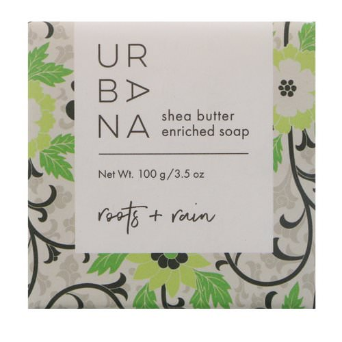 European Soaps, Urbana, Shea Butter Enriched Soap, Roots + Rain, 3.5 oz (100 g) Review