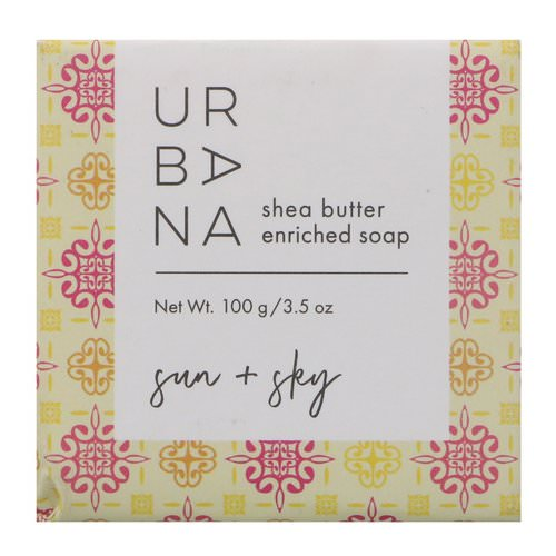 European Soaps, Urbana, Shea Butter Enriched Soap, Sun + Sky, 3.5 oz (100 g) Review