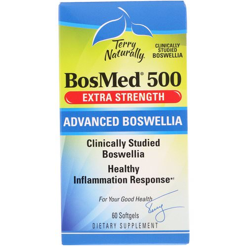 EuroPharma, Terry Naturally, BosMed 500, Extra Strength, Advanced Boswellia, 500 mg, 60 Softgels Review