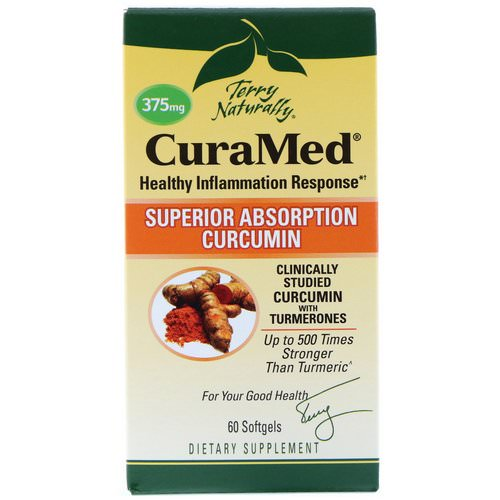 EuroPharma, Terry Naturally, CuraMed, 375 mg, 60 Softgels Review