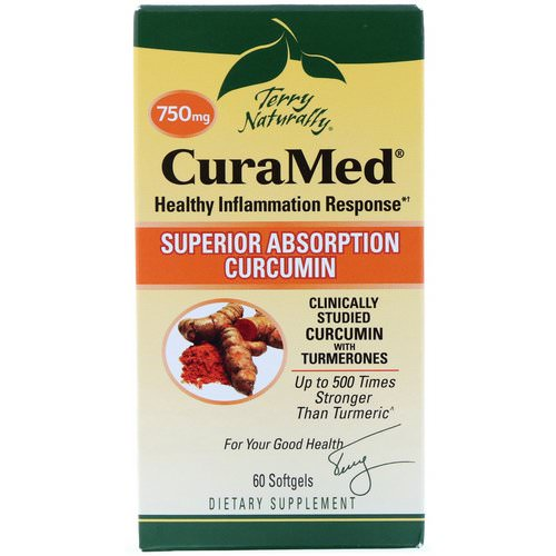EuroPharma, Terry Naturally, CuraMed, 750 mg, 60 Softgels Review