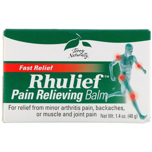 EuroPharma, Terry Naturally, Rhulief, Pain Relieving Balm, 1.4 oz (40 g) Review