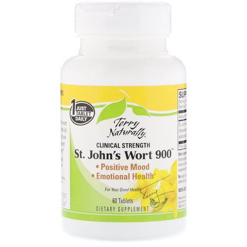 EuroPharma, Terry Naturally, St. John's Wort 900, 60 Tablets Review
